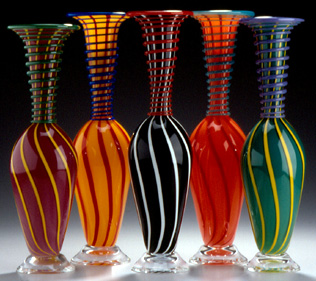 Ken and Ingrid Hanson art glass from the Bay Area
